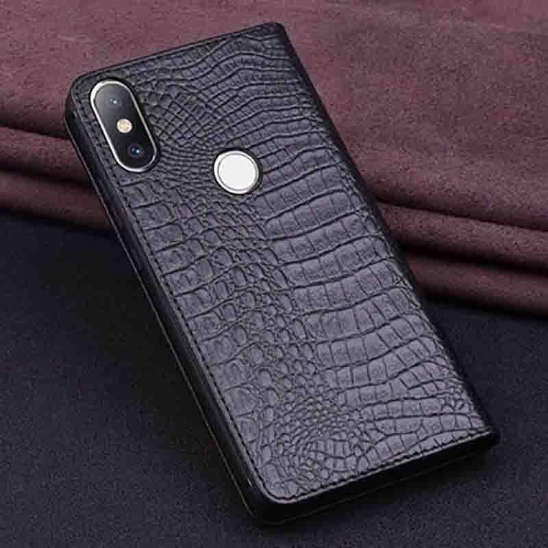 En Cuir véritable étui de téléphone pour xiaomi mi 6X6 X housse arrière Pour xiaomi mi 6X6 X étui coque arrière - 5