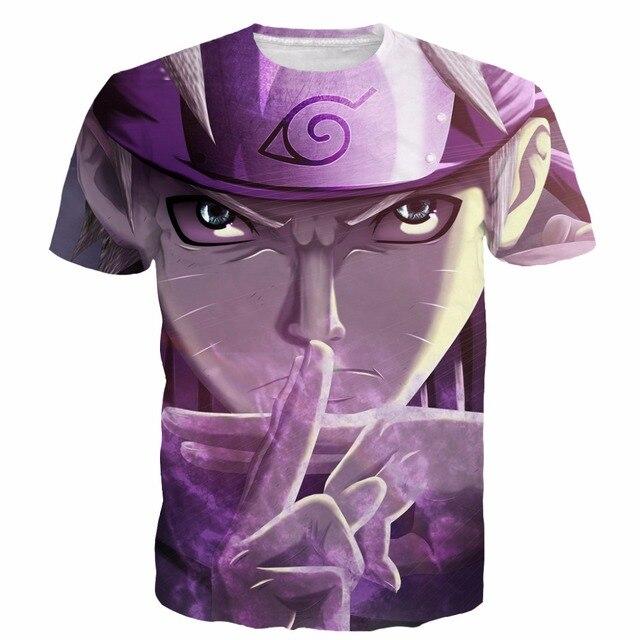 Новый Стиль Прохладный Наруто футболки тис Мужчины Женщины Hipster 3D майка Аниме футболки Красивый Swag футболки Harajuku Тройник рубашки