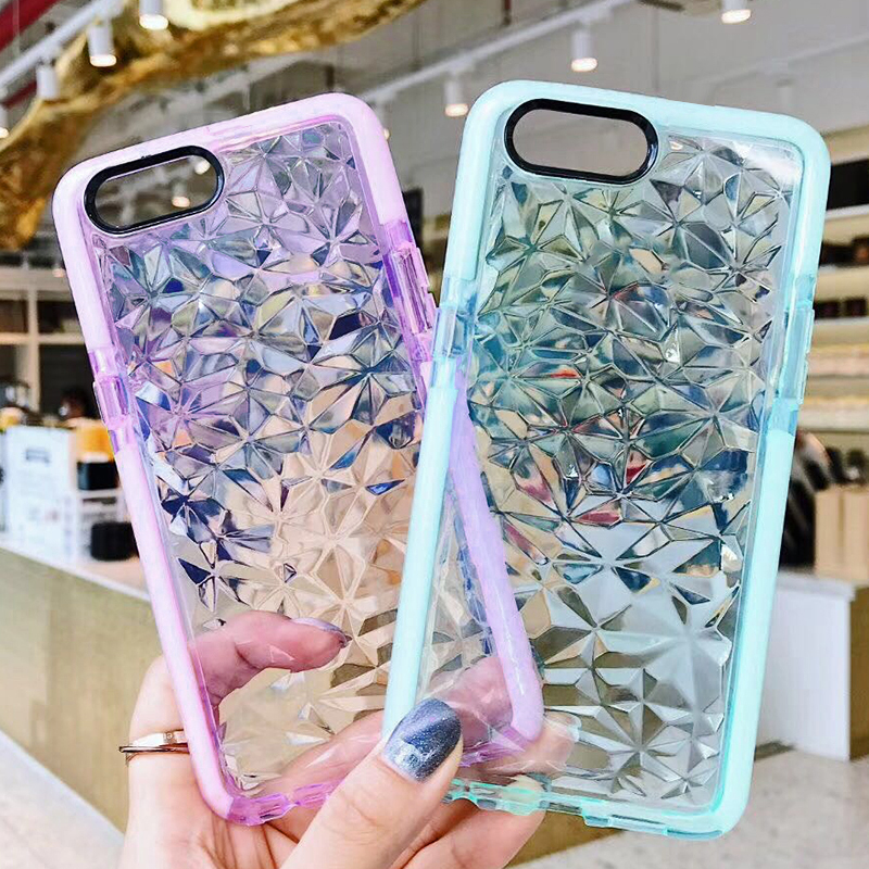 Luxury Jelly Phone Cases For iPhone 7 8 6 6s 8 Plus X Soft TPU Transparent Case Shookproof Clear Cover For Samsung S9 plus S8 S7
