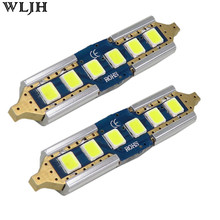 WLJH 2x Canbus Led 2835 SMD Festoon 41/42mm SV8 5 C10W 211 211-2 212-2 External Interior Bulbs Car License Light No Polarity 12V(China)