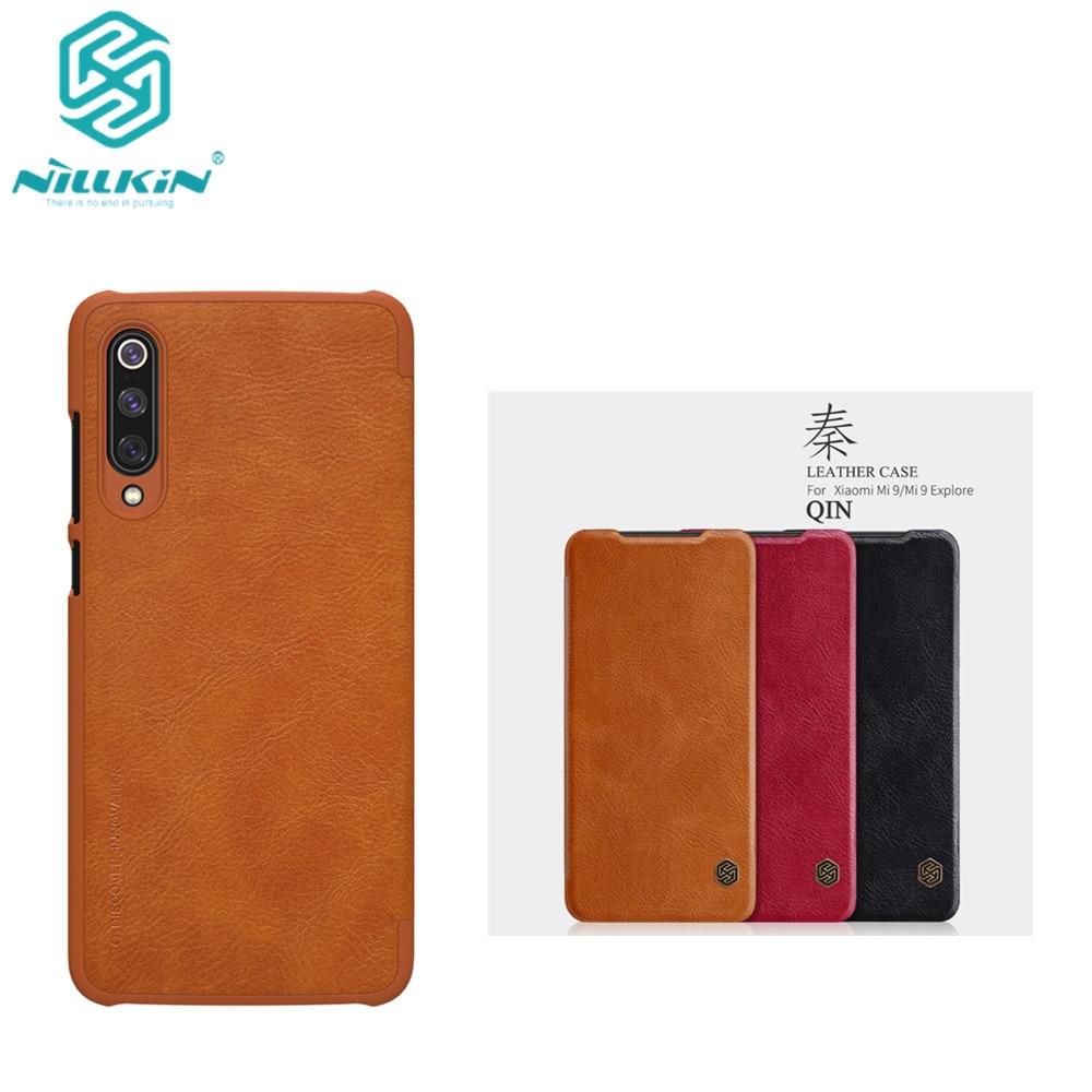 10pcs lot Wholesale NILLKIN Qin Series Wallet Flip Leather Case For Xiaomi mi9 Xiaomi Mi9 Explorer