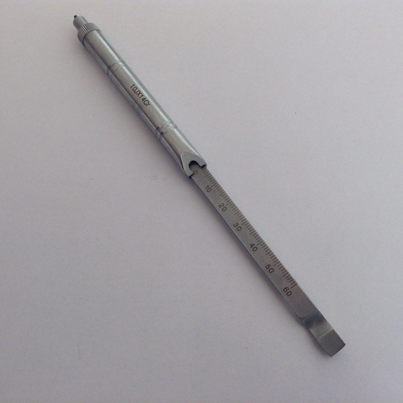 New Depth Gauge 0mm To 60mm Orthopedics Veterinary Surgical Instruments