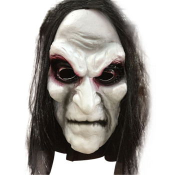Halloween Zombie Mask Props Grudge Ghost Hedging Zombie Masque Masquerade Halloween Maske Long Hair Mascaras De Latex Realista image