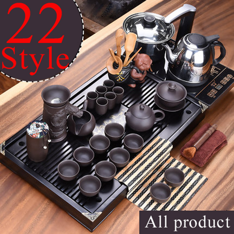 1 set Full set teapot cup Tea Tray kettle High Quality Chinese Solid Tea Tray Household