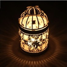 50pcs Wholesale Decorative Vintage Home Decor Candle Holders Candelabro Bird Cages Candlesticks Decorative Gift Za0857