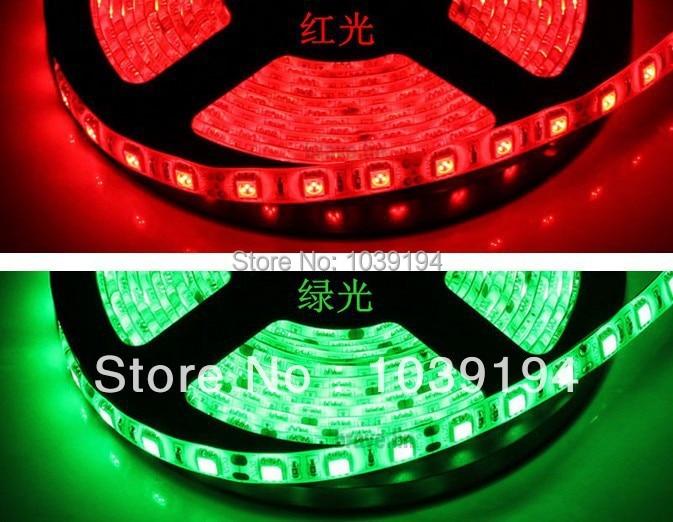 10 м/лот 5050 rgb Водонепроницаемый светодиодные полосы 300, DC 12 В RGB/синий/желтый/красный/зеленый/белый/теплый белый свет прокладки 5 м Бесплатная ...