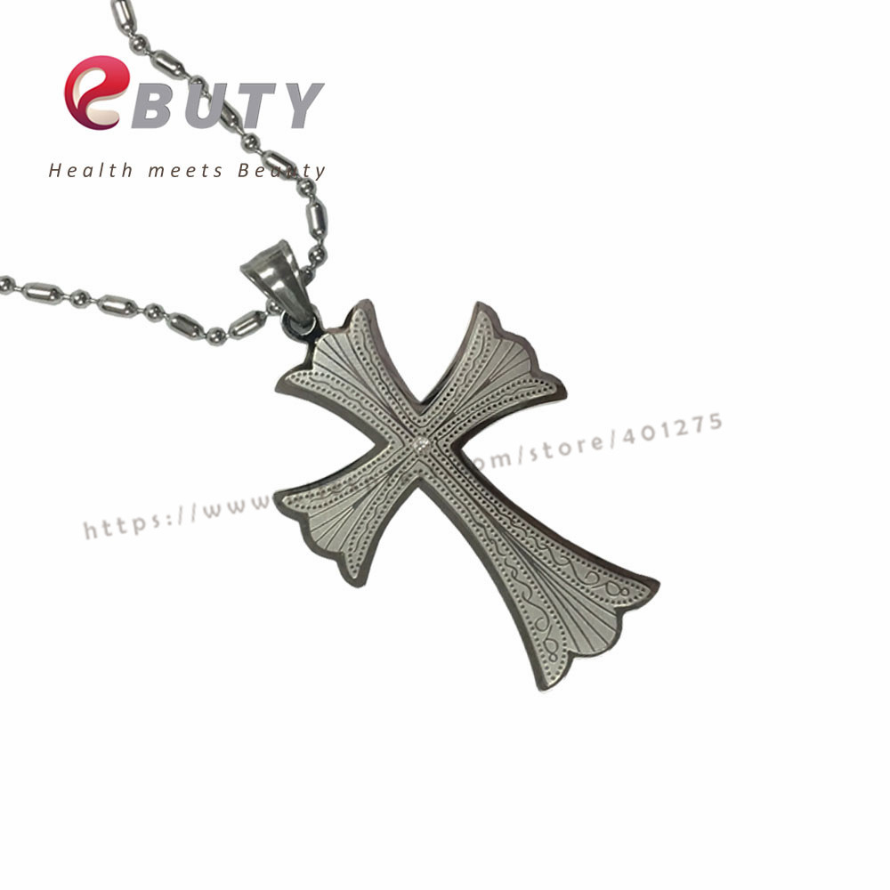 Newest Men Crossing Steel Pendants with Health Energy Balls 4 in 1 Best Gift Jewelry Accessories Charms With Retail Box 5pcs