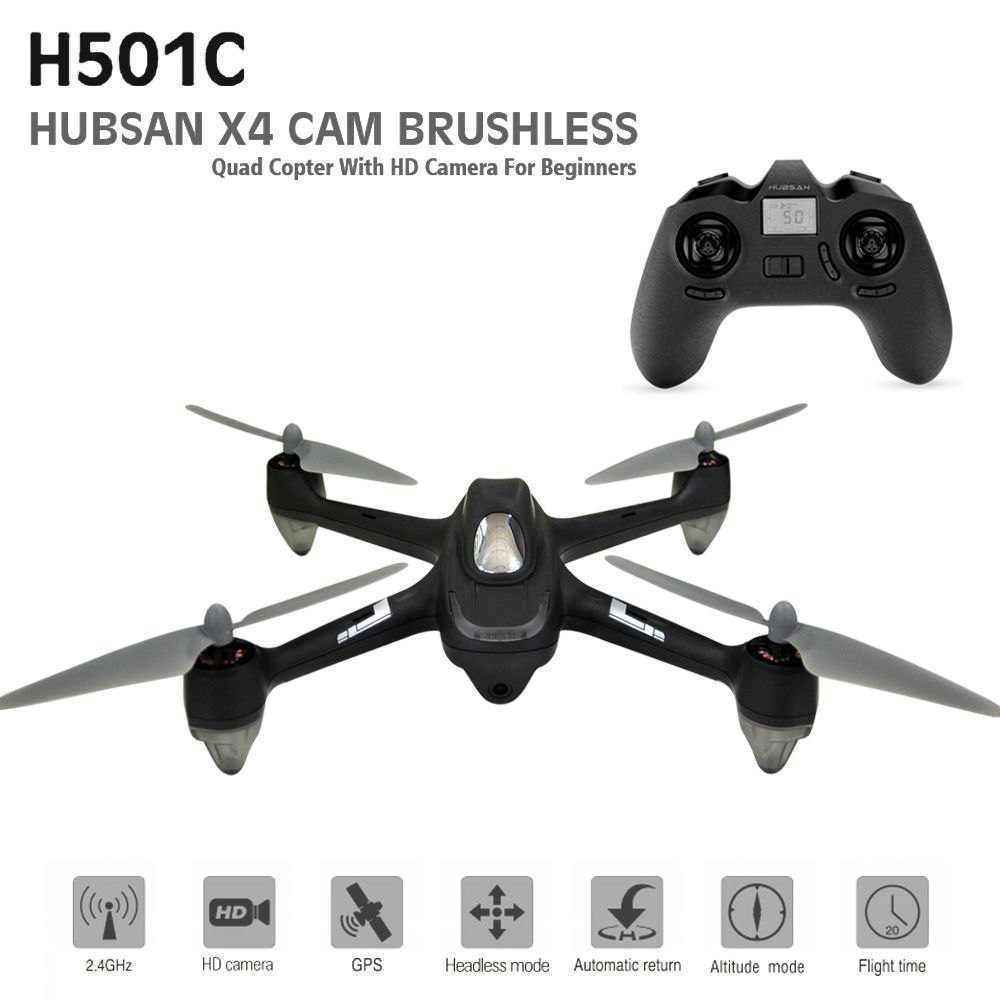 Hubsan X4 RC Drone Brushless GPS Remote Control Quadcopter with 1080P HD Camera Headless O