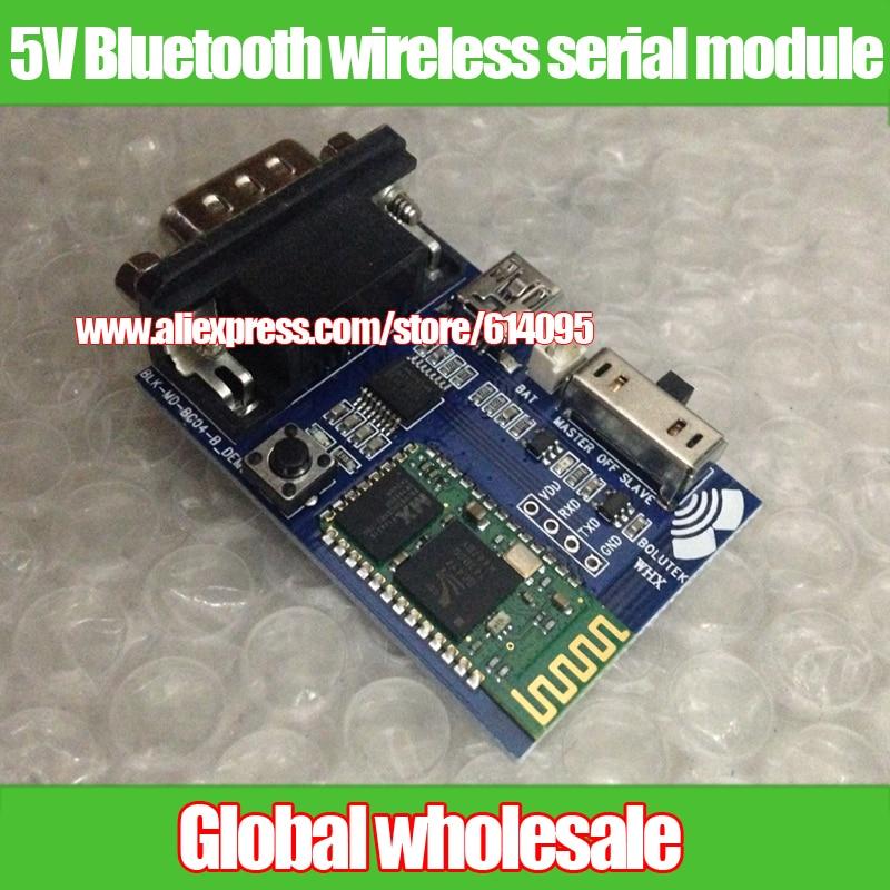 US $28 65 |5V Bluetooth wireless serial module / wireless serial  communication / wireless serial RS232 data transmission module 5v-in  Integrated