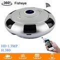 Chegada nova Mini VR Câmera IP Wifi HD 960 P 360 Graus Panorâmica CCTV Rede Câmera de Segurança Visão Nocturna do IR