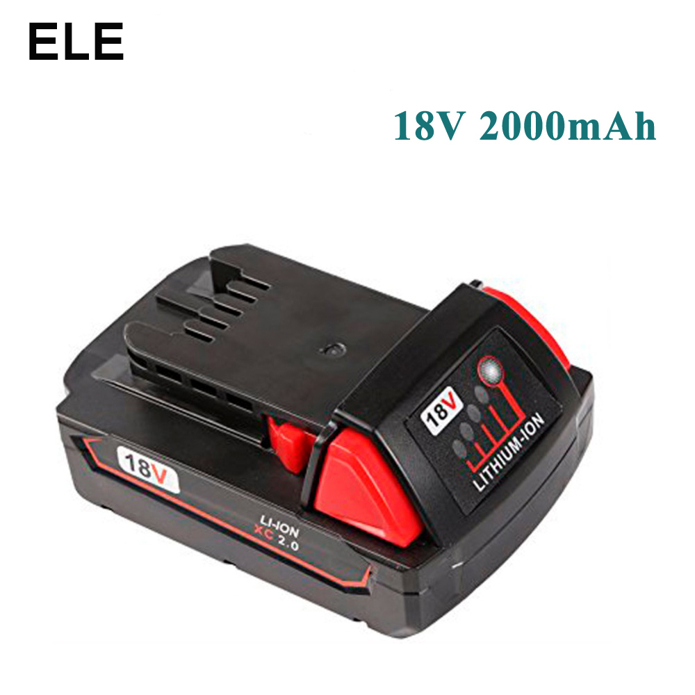 все цены на 2x Eleoption 2000mAh 18V Li-Ion Replacement Battery for Milwaukee XC 48-11-1820 B2 B4 BX With One Charger онлайн