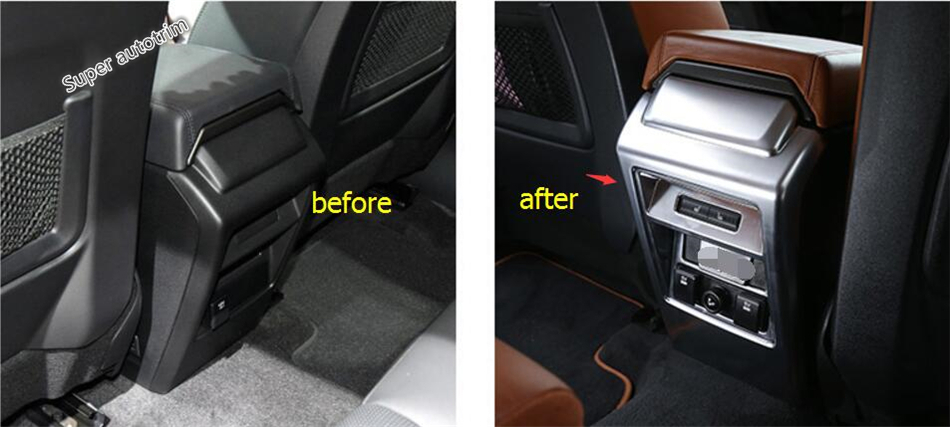 Lapetus Protector For Land Rover Discovery Sport 2015 - 2018 ABS Armrest Box Protective Cap Anti Kick Frame Bezel Cover Trim lapetus for land rover discovery sport 2015 2018 interior styling console gear shift knob shifter panel decor frame cover trim