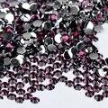 1000 шт. 2 мм горячие продаем deep Purple 14 Грани Круглые Сверкающие Стразы Nail Art Украшения DIY N17