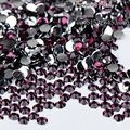 1000 pcs 2mm hot sell deep Purple 14 Facets Round Rhinestone Sparkling  Nail Art Decoration DIY N17