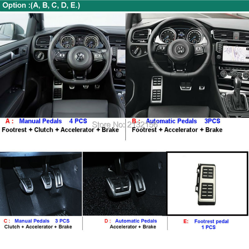 car pedals for vw golf 7 vii gti mk7 audi a3 8v s3 rs3 skoda octavia rh aliexpress com manual audi a3 2018 español manual audi a3 pdf español