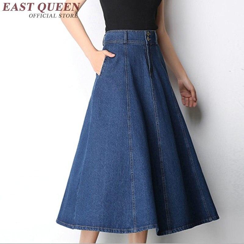 Online Get Cheap Long Denim Skirts -Aliexpress.com | Alibaba Group