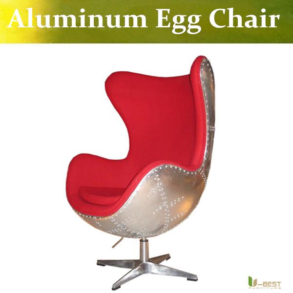 t best silla huevo de aluminio cscara de huevo silla con cojn de tela