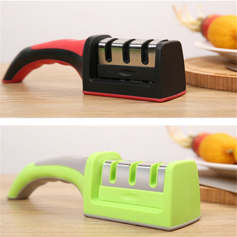 1 PC Professional Hard Carbide Ceramic Sharpening Stone 3 Stages Household Knife Sharpener Kitchen Sharpening Tool