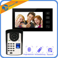 New 7inch Monitor Fingerprint password Keypad Code HD Camera Video Door Phone Doorbell Intercom System Wireless unlocks