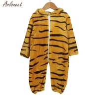 2017 Toddler Newborn Baby Boys Girls Animal Tiger Cartoon Hooded Rompers Outfits Clothes Sep 14 Fantasy