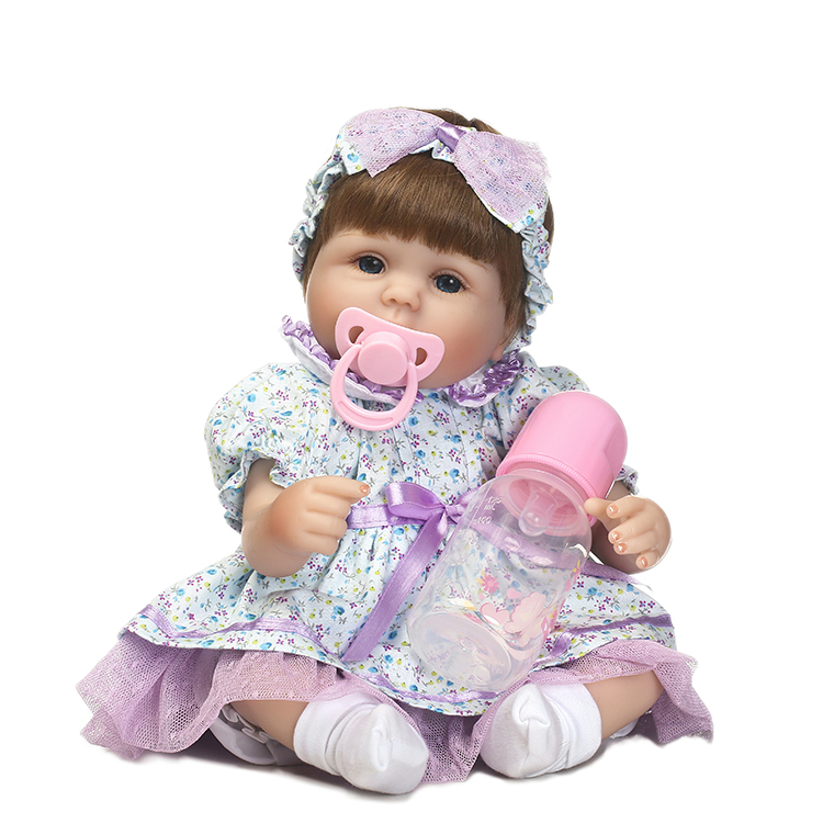 40cm Soft Silicone Reborn Baby Doll Play House Toy Like Real 16inch Newborn Princess Girls Babies Dolls Birthday Gifts Present 40cm soft silicone reborn baby doll toy lifelike 16inch newborn girls babies dolls birthday gifts xmas present play house toy