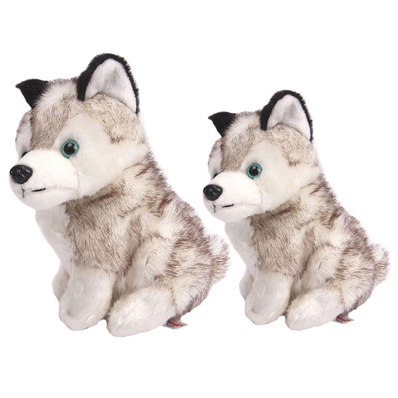 Lovely Simulation Husky Dog Stuffed Animals Plush Toys Gifts Husky Stuffed Animal for Kids Baby Toy Birthday Present Plush Toy push along walking toy wooden animal patterns funny kids children baby walker toys duckling dog cat development eduacational toy
