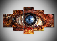 Artryst HD Print Abstract Art Eye Painting and Poster Canvas Painting 5 Pieces with Frame Deco for Living Room Wall Art