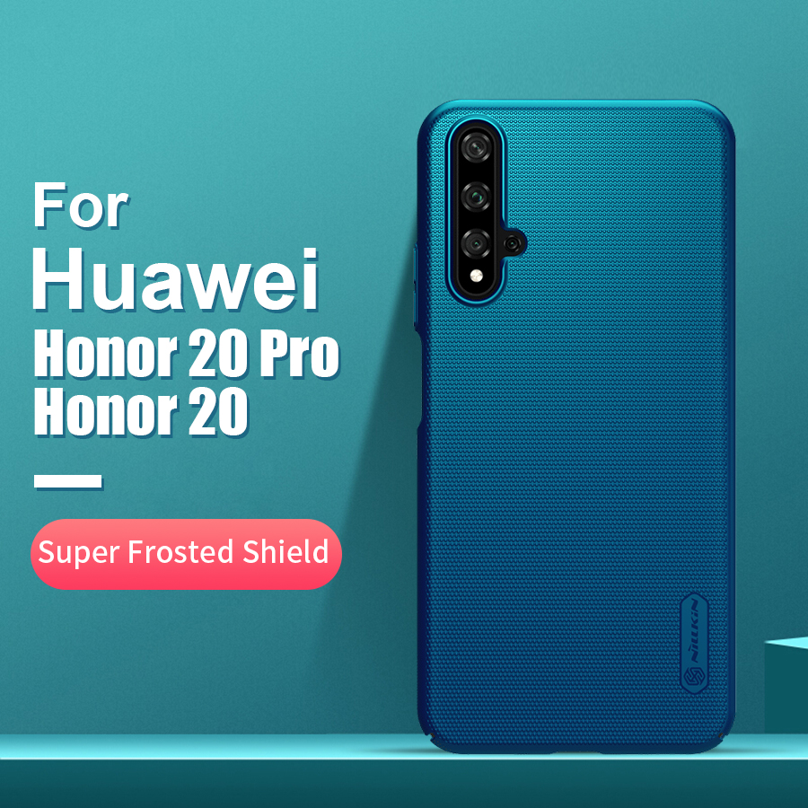 For huawei honor 20 case cover 6.26'' NILLKIN Frosted PC Matte hard back cover Gift Phone Holder For Huawei Honor 20 Pro cover image