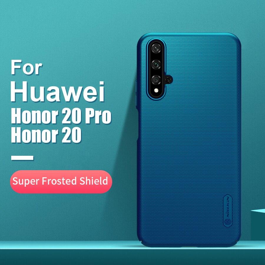 Para huawei honor 20 caso capa 6.26 nnillkin fosco pc fosco duro de volta capa presente titular do telefone para huawei honor 20 pro capa