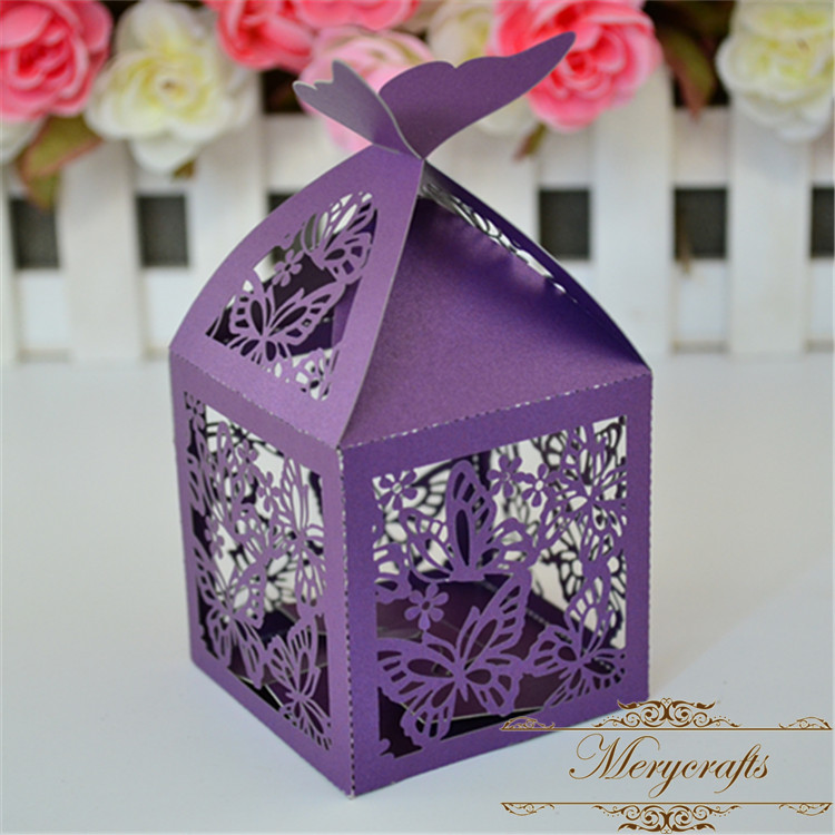 Butterfly Themed Favor Boxes : Buy wholesale purple butterfly themes from china
