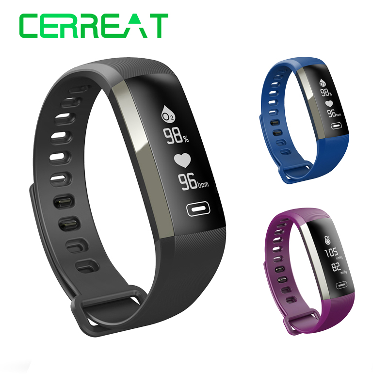 R5Max Wristband Bracelet Heart Rate Blood Pressure Monitor Sleep Fitness Bracelet Tracker Passometer Smartband PK Xiaomi