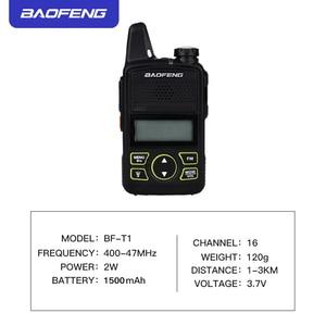 Image 4 - 2PCS Baofeng bf t1 מכשיר קשר מיני ילדים רדיו uhf נייד שתי בדרך רדיו חם CB רדיו USB מטען ייחודי מעורר כפתור