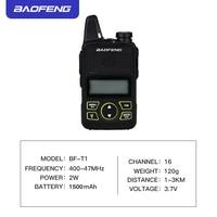 הדרך רדיו uhf BF-T1 Baofeng טוקי רדיו לילדים UHF רדיו ניידת שני הדרך Ham CB רדיו USB מטען מיני BF T1 Baofeng 2pcs WALKY טוקי (4)