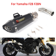 цена на Motorcycle Exhaust System Mid Link Pipe Slip On Muffler Exhaust Pipe For Yamaha FZ8 FZ8N With DB Killer Silencer
