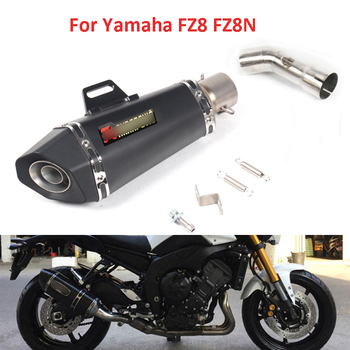 Motorcycle Exhaust System Mid Link Pipe Slip On Muffler Exhaust Pipe For Yamaha FZ8 FZ8N With DB Killer Silencer motorcycle exhaust modified scooter clamp on motorbike mid pipe slip on muffler exhaust mid pipe for yamaha mt 07 mt07 mt 07
