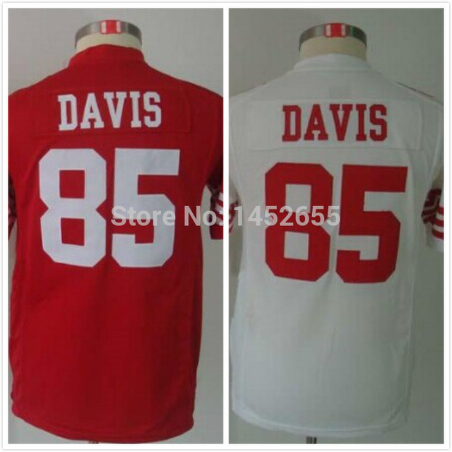 Best quality#85 Vernon Davis Jersey,Youth/Kids Football Jersey,Best quality,Authentic Jersey,Size S--XL,Accept Mix orde
