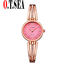 New O.T.SEA Model Trend Rhinestone Watches Ladies Bracelet watches Girls Quartz Costume Watches reloj mujer OTS065