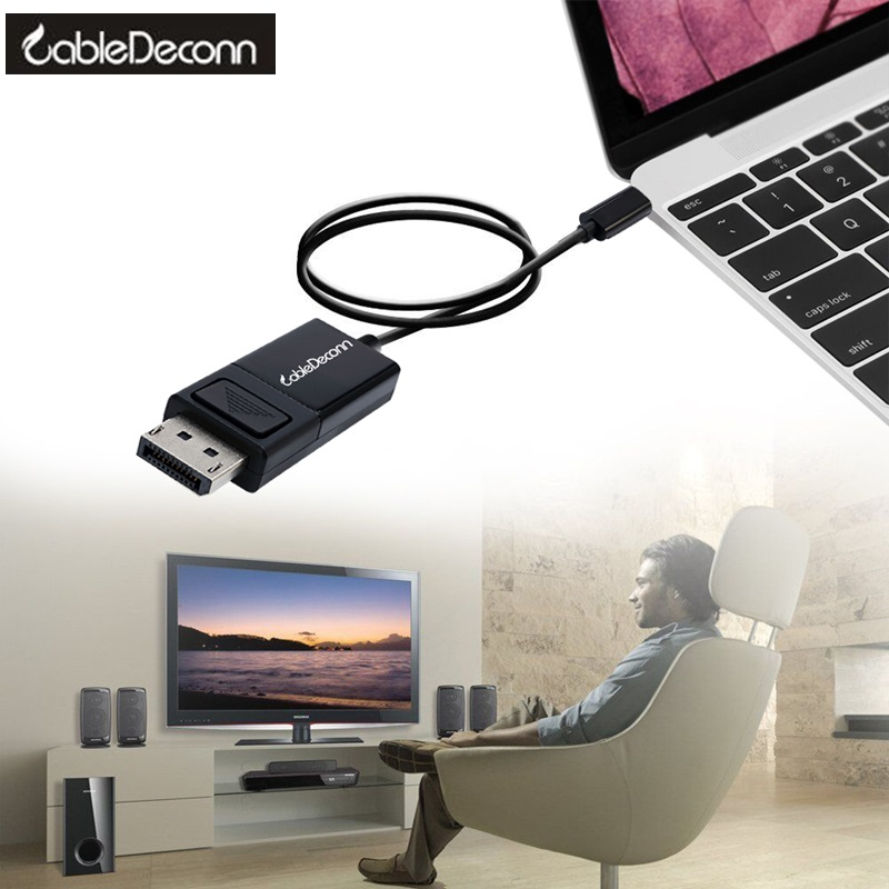Thunderbolt 3 to hdmi cable 4K 60hz adapter converter Type C to dp vga Cable USB