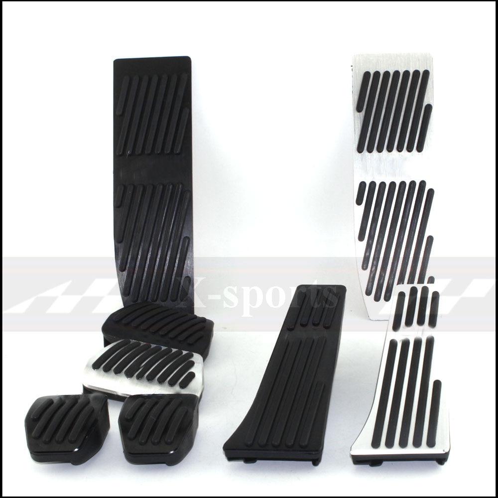 Estilo do carro peças interiores pedais acelerador pedal de alumínio posição original para bmw e46 e60 e90 e91 e92 e93 e87 e88 prata preto