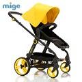 Bebé Cochecito paisaje de alta canción bebé de coche de bebé plegable de cuatro ruedas carro de los niños pueden sentarse y acostarse portátil
