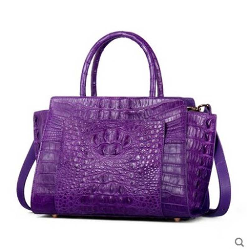 yuanyu The new crocodile skin female bag leather imported crocodile purse handbag wing bag large capacity shoulder women hanbag yuanyu the new crocodile skin female bag imported crocodile leather single shoulder bag genuine handbag alligator women handbag