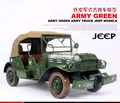 1pcs 17inch hand made metal traditional USA Army green truck jeep model for desk deck