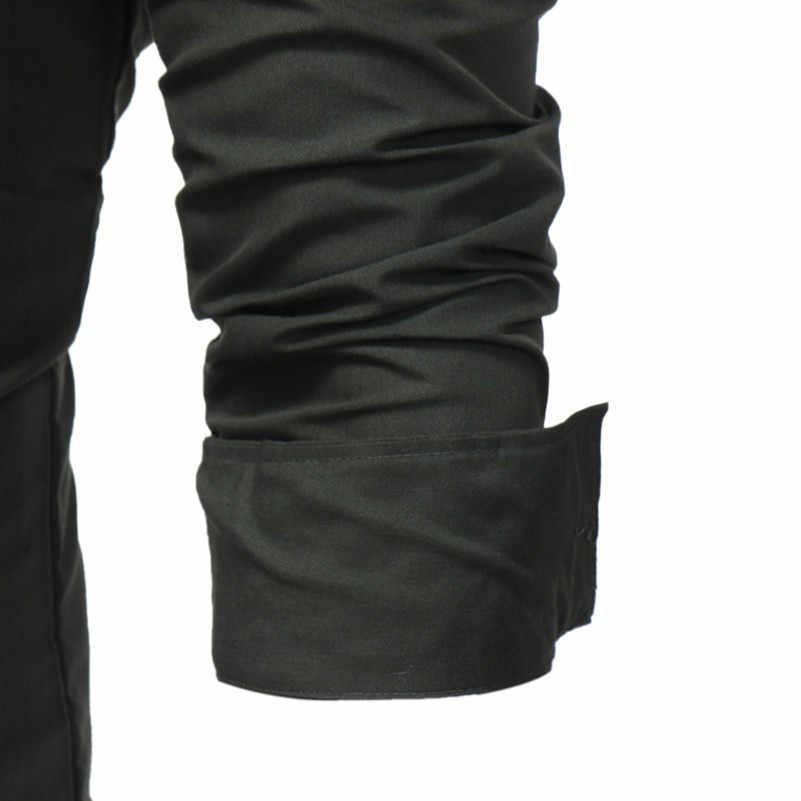 VISADA JAUNA 新入荷しましたファッション服男性長袖シャツ夏スリムフィットのためのカジュアルシャツ男性 n8932