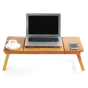 Image 2 - MAGIC UNION Portable Folding Bamboo Laptop Table Sofa Bed Home Laptop Stand Computer Notebook Desk Bed Dining Table Plus Size