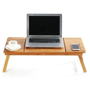 Image 2 - Magic Union Draagbare Folding Bamboe Laptop Tafel Sofa Bed Thuis Laptop Stand Computer Notebook Bureau Bed Eettafel Plus Size