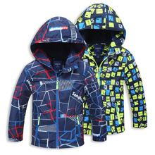2017 Spring Autumn Polar Fleece Children Outerwear Warm Sporty Kids Clothes Waterproof Windproof Boys Jackets For 4-12T 2 Colors
