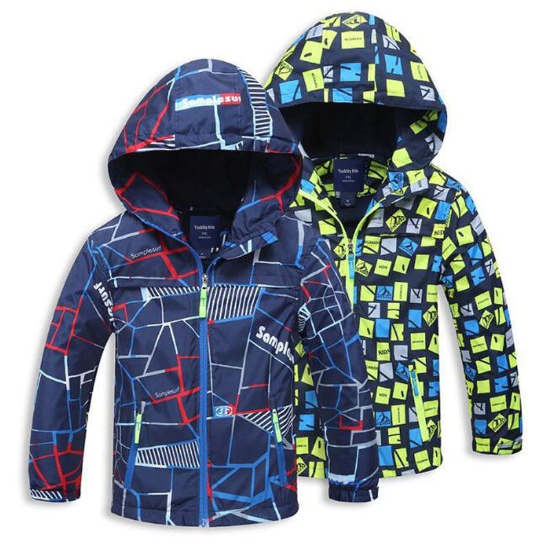 2017 Spring Autumn Polar Fleece Children Outerwear Warm Sporty Kids Clothes Waterproof Windproof Boys Jackets For 4-12T 2 Colors
