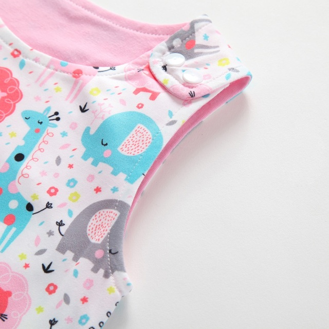2019 New Baby Newborn Kids Toddler Boys Girls Clothes Sleeveless Short and Long Romper Floral Elephant Jumpsuit Playsuit Sunsuit 3