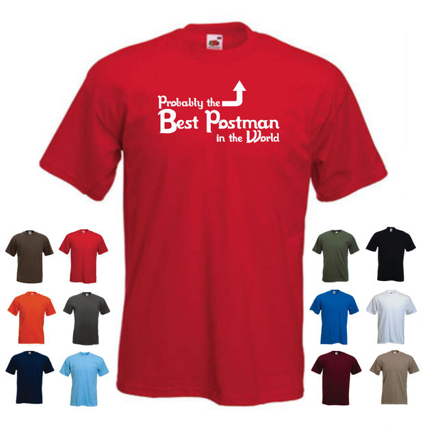 b976b300fd 'Probably the Best Postman in the World' Funny Postie Mailman Gift Idea T-