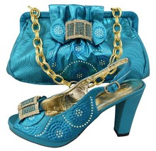 Latest Fashion Italian Shoe And Bag Set For Wedding Women Shoe And Bag High Heel Nigerian Shoe And Bag Set To Matching GF04